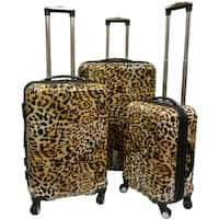 Karriage-Mate Leopard Hardside Spinner Luggage (Set of 3)