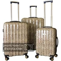 Karriage-Mate Gold Leopard ABS/Polycarbonate 3-piece Hardside Spinner Luggage Set