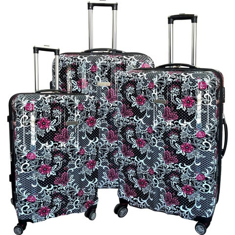 Karriage-Mate Floral Multicolor 3-piece Hardside Spinner Luggage Set