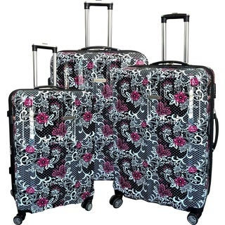 Karriage-Mate Floral Multicolor 3-piece Hardside Spinner Luggage Set