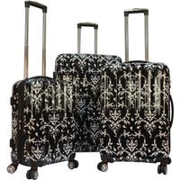 Karriage-Mate Damask 3-piece Hardside Spinner Luggage Set