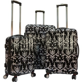 Karriage-Mate Damask 3-piece Hardside Spinner Luggage Set