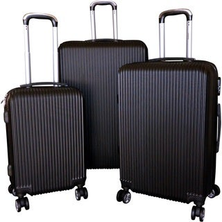 Karriage-Mate Black ABS 3-piece Hardside Spinner Luggage Set