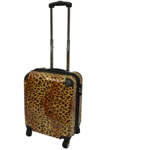 """Karriage-Mate Leopard 21-inch Carry On Hardside Spinner Upright Suitcase - 17"""""""