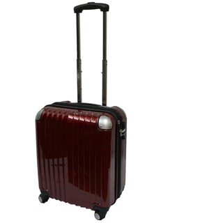 Karriage-Mate Burgundy 21-inch Carry On Hardside Spinner Upright Suitcase