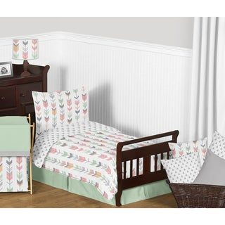 Link to Sweet Jojo Designs Coral and Mint Mod Arrow Collection Comforter Set Similar Items in Kids Comforter Sets