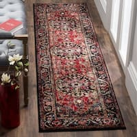 Safavieh Vintage Hamadan Traditional Red/ Multi Distressed Runner Rug - 2' 2 x 14'