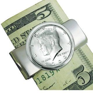 Smithsonian Institution Silvertone JFK Half Dollar Money Clip