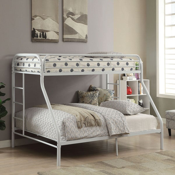 Shop Acme Furniture Tritan White Metal Twin XL Over Queen Bunk Bed  Free Shipping Today