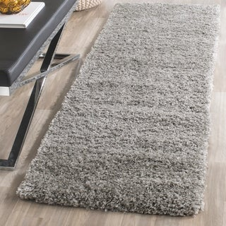 Safavieh California Cozy Plush Silver Shag Runner Rug (2' 3 x 19')