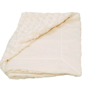 Roberto Amee Sculputed Ivory Faux Fur Throw