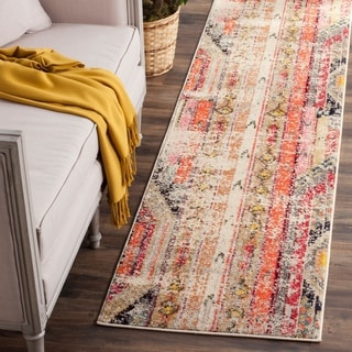 Safavieh Monaco Vintage Bohemian Light Grey / Multi Runner Distressed Rug (2' 2 x 20')
