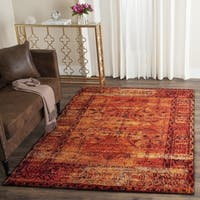 Safavieh Vintage Hamadan Overdyed Orange Distressed Area Rug - 6' Square