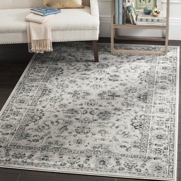 Safavieh Vintage Oriental Grey/ Ivory Distressed Area Rug - 6' Square