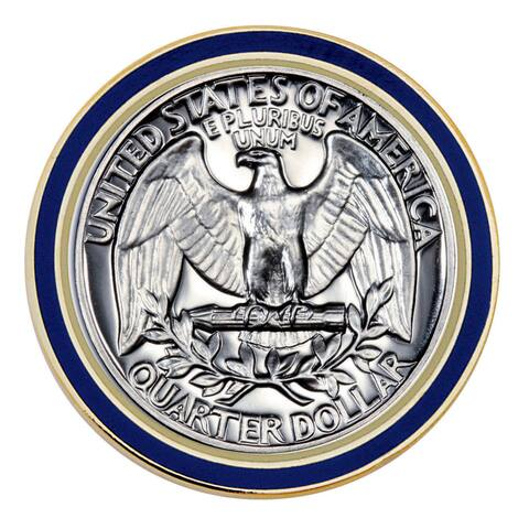 Smithsonian Institution Proof Washington Quarter (Reverse) Coin Lapel Pin
