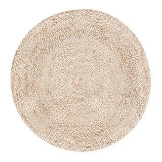 Jani Doti Natural/Ivory Jute and Upcycled Fiber Rug (8' Round)