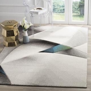 Safavieh Hollywood Grey/ Teal Area Rug (6' Square)