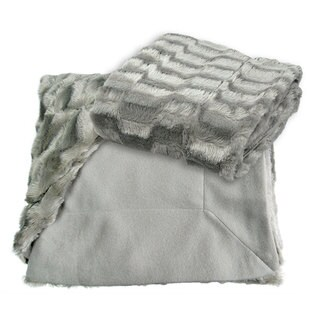 Roberto Amee Silver Mink Faux Fur Throw