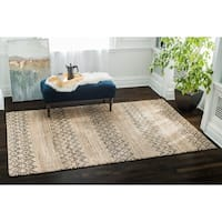 Jani Dario Natural/Black Jute and Cotton Rug - 8' x10'