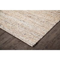 Jani Nora Black/Tan/Ivory Natural Jute and Upcycled Materials Rug (8' x 10')