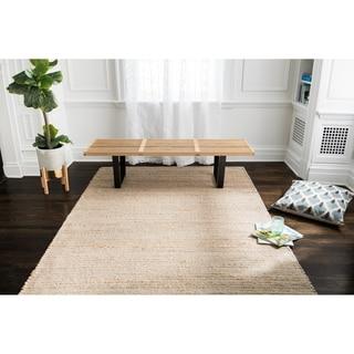 Jani Madi Natural/Grey Jute and Wool Rug (4' x 6')