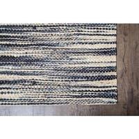 Jani Xana Ivory/ Black Jute Rug (8' x 10')