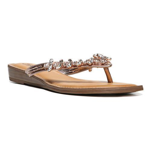 65b67f44020e56 Shop Women s Carlos by Carlos Santana Tereza Jeweled Thong Sandal Rose  Gold Metallic Polyurethane - Free Shipping Today - Overstock - 13888586