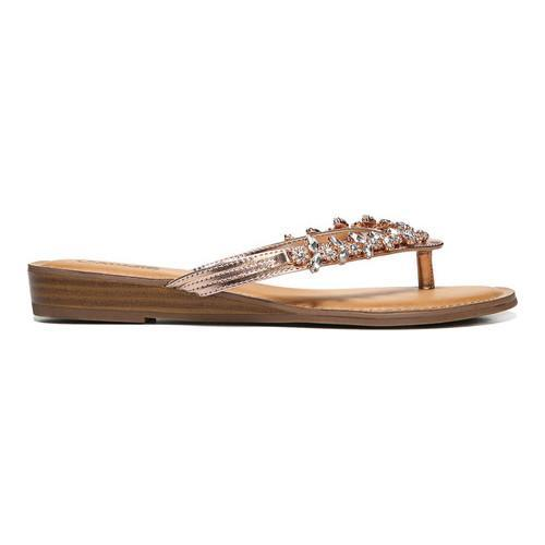 f8a6aa305d2cad ... Thumbnail Women  x27 s Carlos by Carlos Santana Tereza Jeweled Thong  Sandal Rose Gold ...