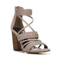 Women's Carlos by Carlos Santana Java Strappy Sandal Light Doe Microfiber