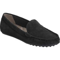 Women's Aerosoles Over Drive Loafer Black Perfed Suede