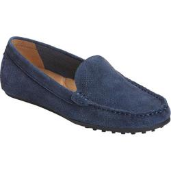 Women's Aerosoles Over Drive Loafer Navy Perfed Suede
