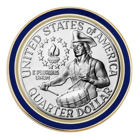 Smithsonian Institution Proof Washington Bicentennial Quarter Coin Lapel Pin