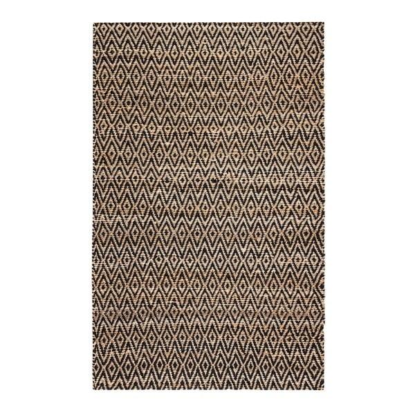 Jani Para Black/Natural Jute and Cotton Rug - 8' x 10'