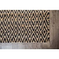 Jani Para Black/Natural Jute and Cotton Rug (8' x 10')