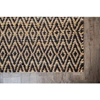 Jani Para Black/Natural Jute and Cotton Rug - 8' x 10'