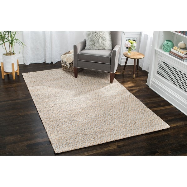 Jani Para Grey/Natural Jute and Cotton Rug - 9' x 12'