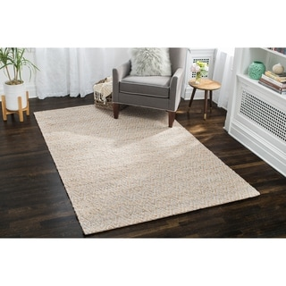 Jani Para Grey/Natural Jute and Cotton Rug (9' x 12')