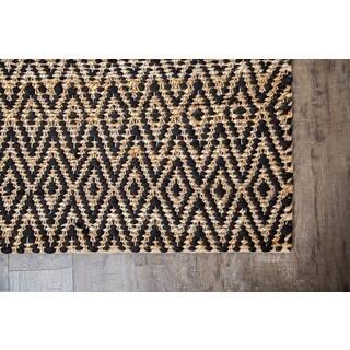 Jani Para Black/Natural Jute and Cotton Rug (9' x 12')