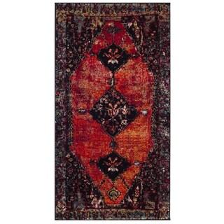 Safavieh Vintage Hamadan Traditional Orange/ Multi Distressed Area Rug (2' 2 x 4')