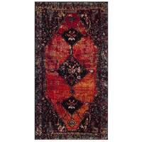 Safavieh Vintage Hamadan Traditional Orange/ Multi Distressed Area Rug - 2'2 x 4'