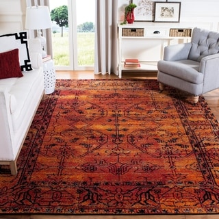safavieh vintage hamadan overdyed orange distressed area rug 2u0027 7 x 5u0027