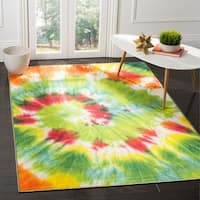 Safavieh Paint Brush Green/ Orange Area Rug - 4' X 6'