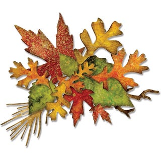 Sizzix Thinlits Dies 14/Pkg By Tim Holtz-Fall Foliage