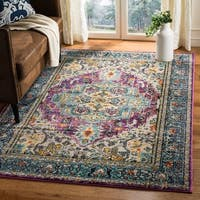 Safavieh Monaco Boho Medallion Violet/ Light Blue Distressed Area Rug - 4' x 5'7""