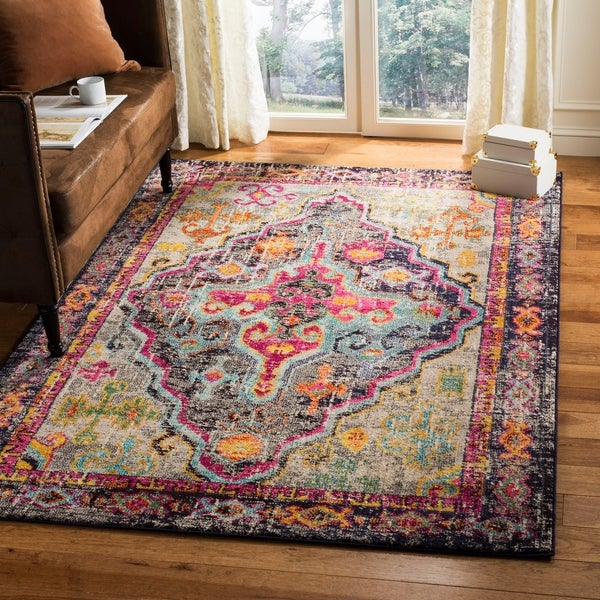 Vintage Looking Area Rugs: Shop Safavieh Monaco Vintage Bohemian Grey/ Pink