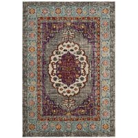 Safavieh Monaco Vintage Purple/ Blue Distressed Area Rug - 4' x 5' 7