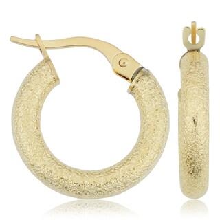 Fremada 14k Yellow Gold Small Hoop Earrings (3x10-mm)