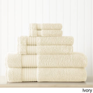 Amraupur Overseas 6-Piece 700GSM 100% Turkish cotton towel set
