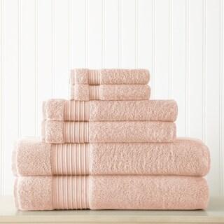 Amraupur Overseas 6-Piece 700GSM 100% Turkish cotton towel set