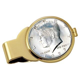 Smithsonian Institution JFK Half Dollar Goldtone Money Clip